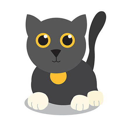 An image of a cat from the E book A Beginners ABCs