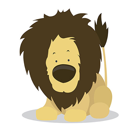 An image of a lion from the E book A Beginners ABCs